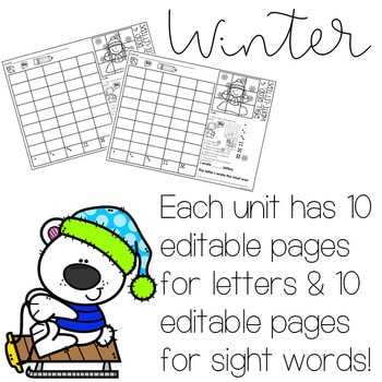 Roll and Write: Editable Worksheets | Winter 2