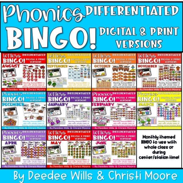 Digital Bingo Letters & Sounds | Bundle 1