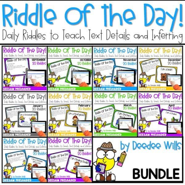 Riddle of the Day   BUNDLE 1