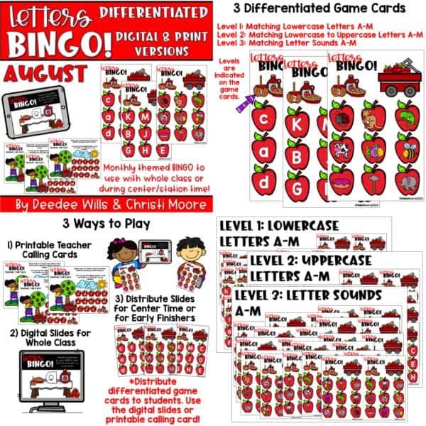 Digital Bingo Letters & Sounds | Bundle 8
