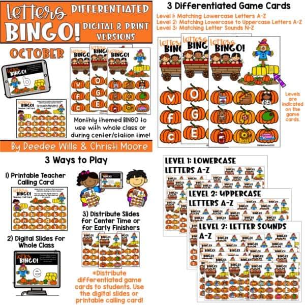 Digital Bingo Letters & Sounds | Bundle 7