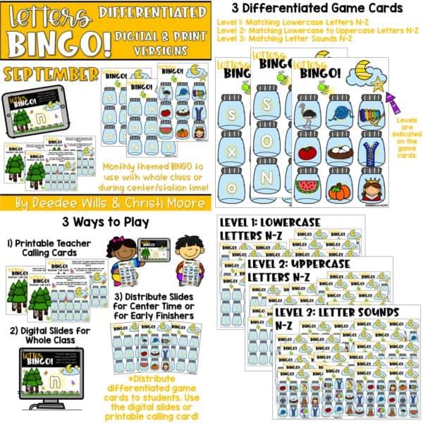 Digital Bingo Letters & Sounds | Bundle 6