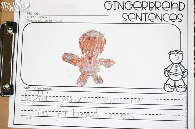 21 Gingerbread Man center activities to practice math and literacy skills in kindergarten and first grade. Easily differentiate your student centers with these fun activities.