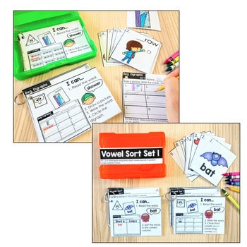 Task Cards for First Grade   Math and Literacy BUNDLE 2