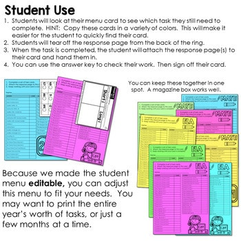 Task Cards for First Grade   Math and Literacy BUNDLE 3