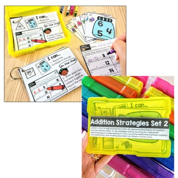 Task Cards for First Grade   Math and Literacy BUNDLE 4