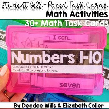 Task Cards for Kindergarten   Math 1