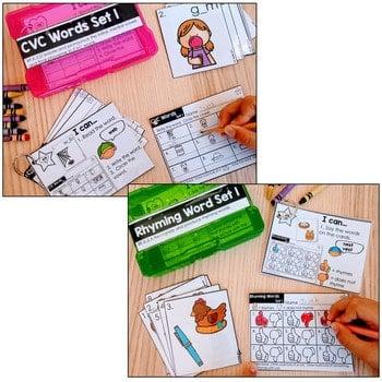 Task Cards for Kindergarten | Math and Literacy BUNDLE 4