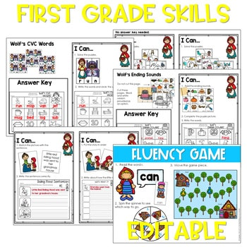 Traditional Tales | Literacy Centers and Math Centers Growing Bundle 3