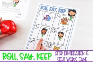 Letter recognition and sight word games for kindergarten and first grade. This editable game is great for literacy centers! With a variety of themes, this game can be played all year long.