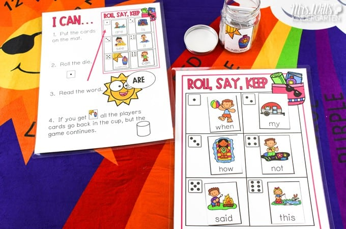 ABC fluency and sight word games for kindergarten and first grade. This editable game is great for literacy centers! With a variety of themes, this game can be played all year long.