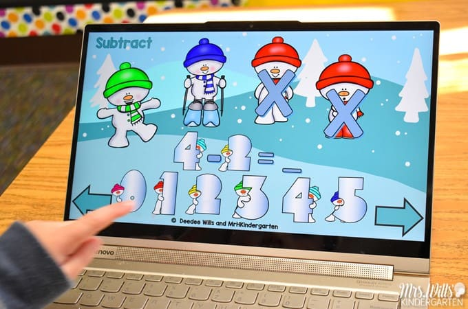 Kindergarten computer games that are perfect for centers or as a whole group activity on your interactive whiteboard. Students practice various math and language arts skills. Exit tickets for each activity are also included!