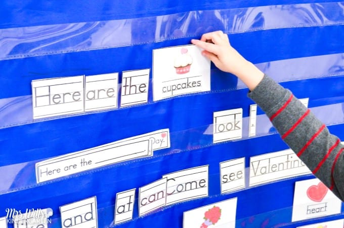 Valentines Day centers for Kindergarten