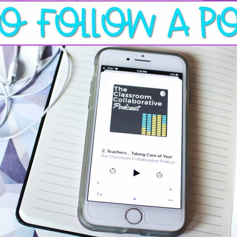 Are you wondering how to follow a podcast? It is simple! Learn all about it here and check out some of my favorite elementary educational podcasts!