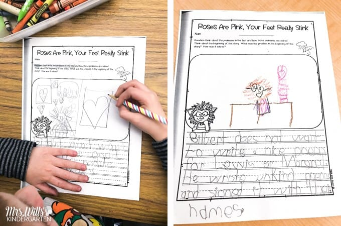 Roses are Pink Lesson Ideas for Kindergarten and First Grade! Roses are Pink, Your Feet Really Stink is a great book to read around Valentine's Day.