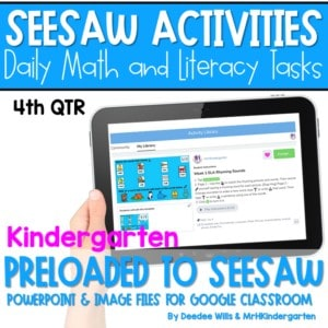 SEESAW 10 Week Math & Literacy Tasks for Distance Learning | First Grade 4