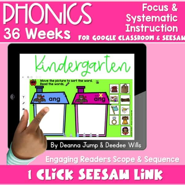 SEESAW Preloaded | Kindergarten Phonics Bundle 1