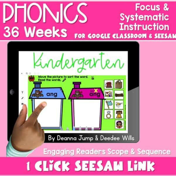 SEESAW Preloaded | Kindergarten Phonics Bundle 1