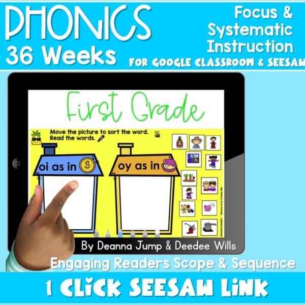 SEESAW Preloaded   First Grade Phonics Bundle 1