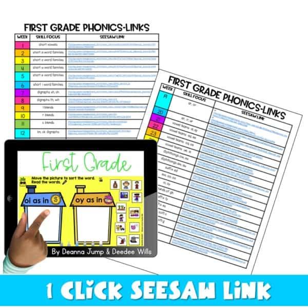 SEESAW Preloaded   First Grade Phonics Bundle 4