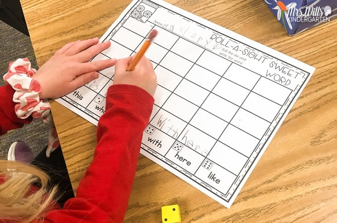 Sight word center ideas for kindergarten and first grade. These editable sight word centers can be used all year long. Select the exact sight words you want to focus on!