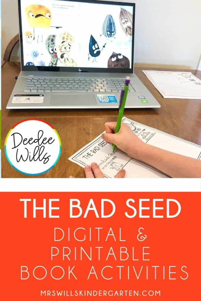 At home learning activities for K-1 students using the story, The Bad Seed. These responding to literature activities can be sent home or uploaded to a digital platform.