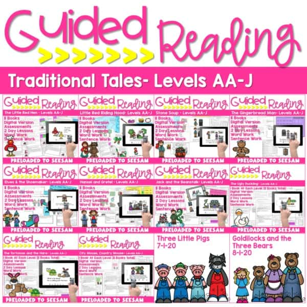 SEESAW Preloaded | Guided Reading Traditional Tale Bundle 2