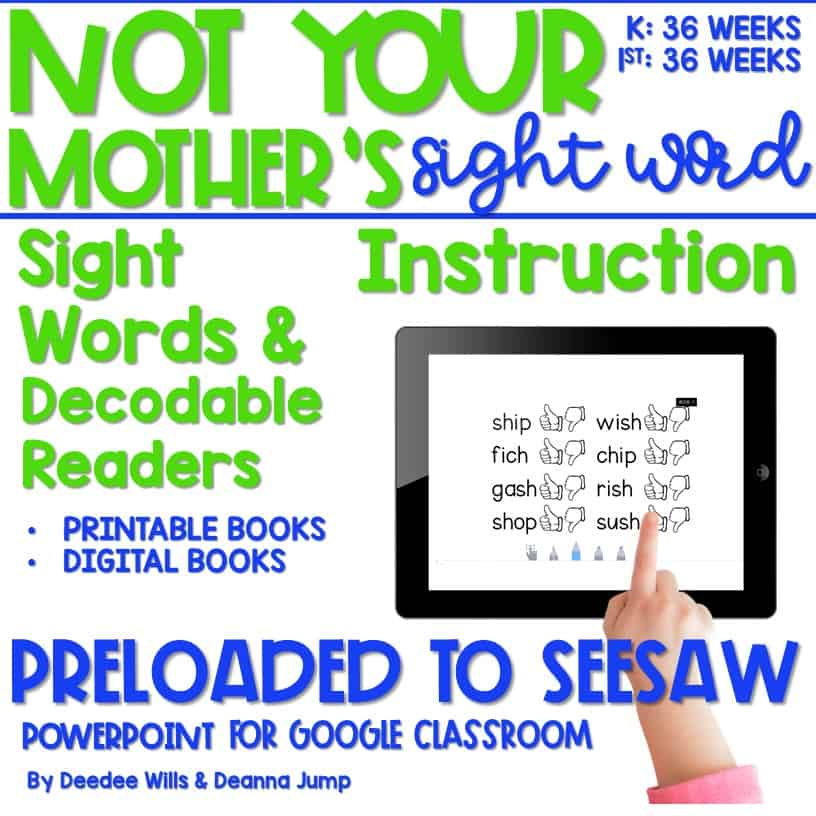 Not Your Mother's Sight Words (and Decodable Readers) 7