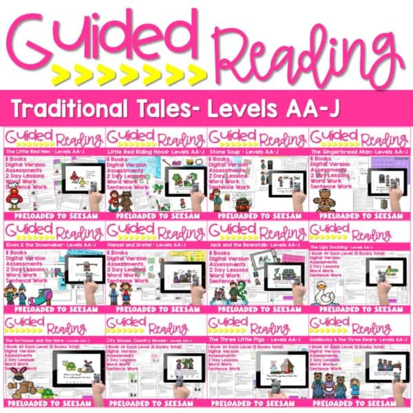 SEESAW Preloaded | Guided Reading Traditional Tale Bundle 1