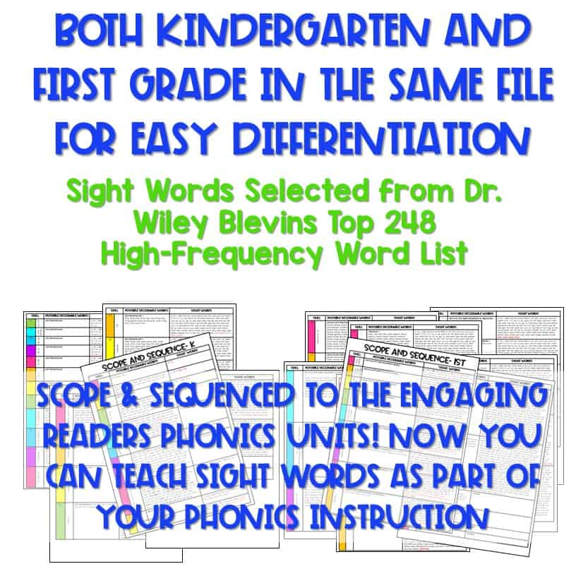 Not Your Mother's Sight Words (and Decodable Readers) 10