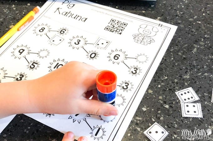Pig Kahuna digital learning at-home unit. Using this resource, students respond to literature and complete math and literacy activities. Printable option for easy printing at home or in a digital format with preloaded Seesaw links!