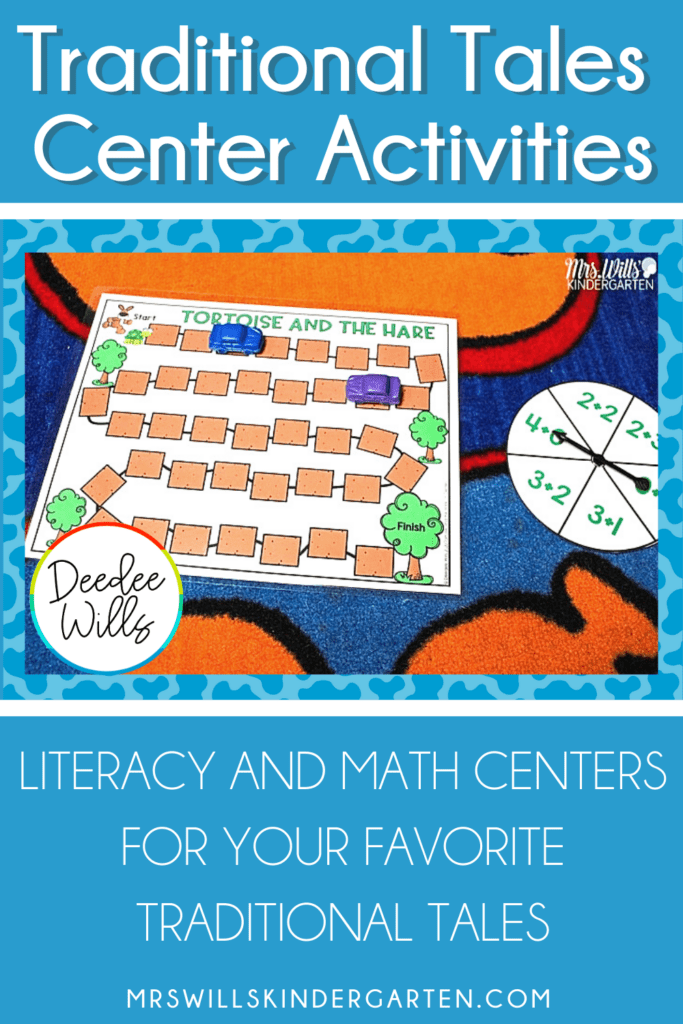Traditional Tales Centers to practice K-1 math and literacy skills. Easily differentiate student centers with over 240 activities for 12 of your favorite timeless tales.