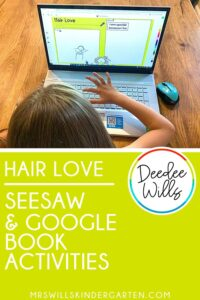 Hair Love book activities in a digital and printable format. Reading response, along with math and literacy activities for this great story written by Matthew Cherry.