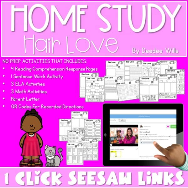 SEESAW At Home Learning: Hair Love 1