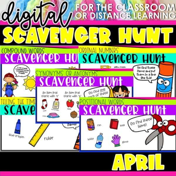 Academic Scavenger Hunts for Kindergarten and 1st Grade | Digital Bundle 11