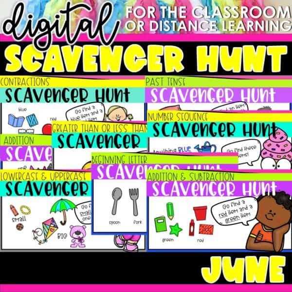 Academic Scavenger Hunts for Kindergarten and 1st Grade | Digital Bundle 13
