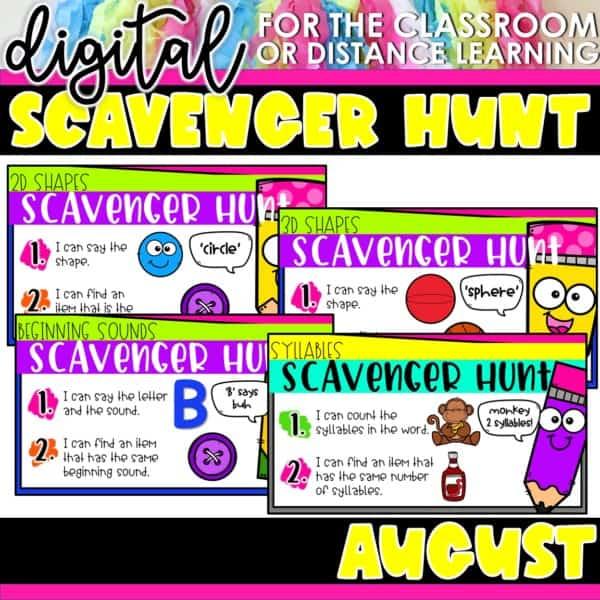 Academic Scavenger Hunts for Kindergarten and 1st Grade | Digital Bundle 3