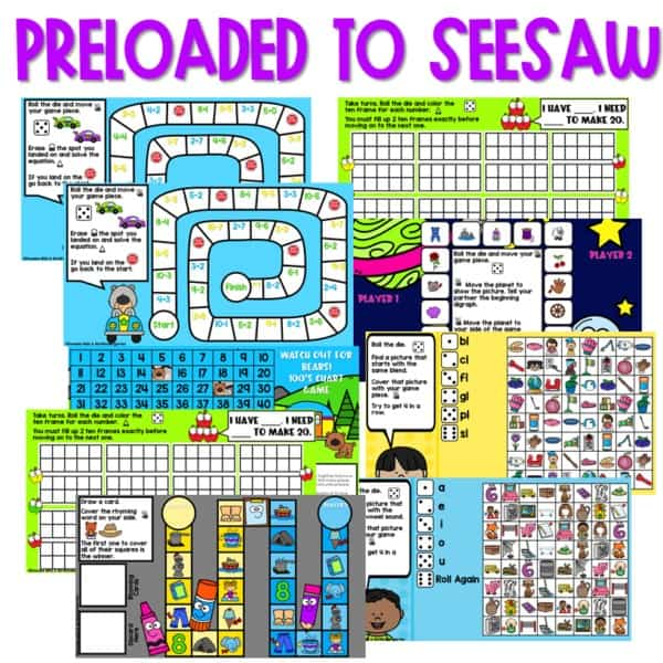 SEESAW Preloaded Math and Literacy Games 2 2