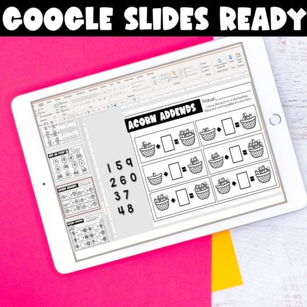 First Grade Digital Printables Growing Bundle | SeeSaw Google or Print 3