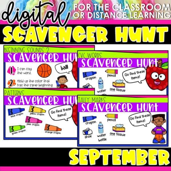 Academic Scavenger Hunts for Kindergarten and 1st Grade | Digital Bundle 4