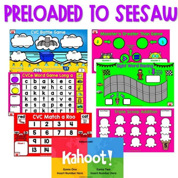 SEESAW Preloaded Math and Literacy Games 2 3