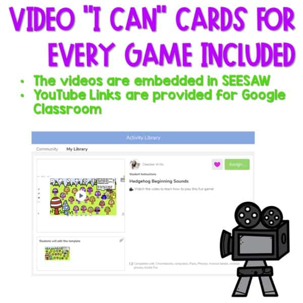 SEESAW Preloaded Math and Literacy Games 3 5