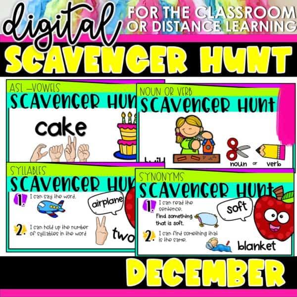 Academic Scavenger Hunts for Kindergarten and 1st Grade | Digital Bundle 7