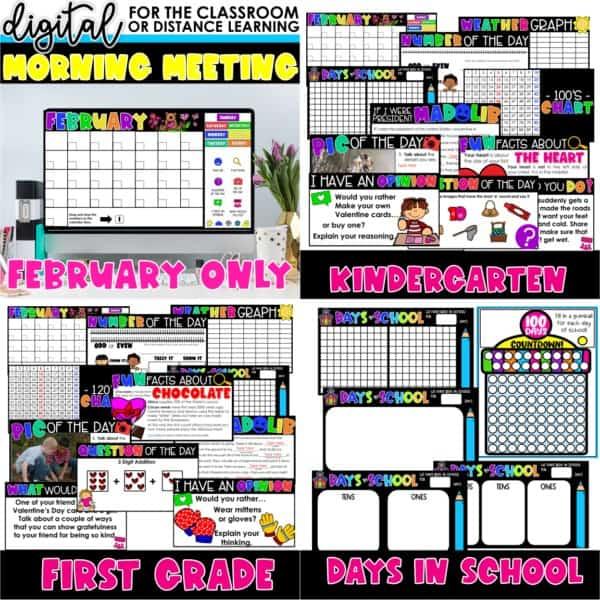 Digital Morning Meetings for Kindergarten & 1st Grade   Full Year Bundle 8
