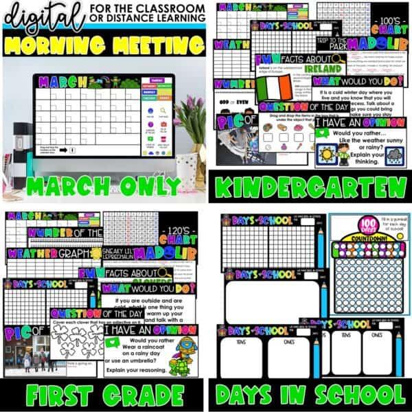 Digital Morning Meetings for Kindergarten & 1st Grade   Full Year Bundle 9