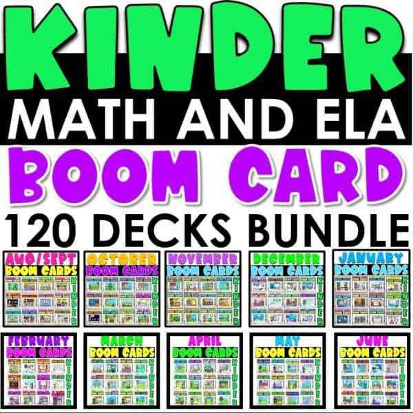 Boom Cards™ for Distance Learning | Kindergarten Bundle 1