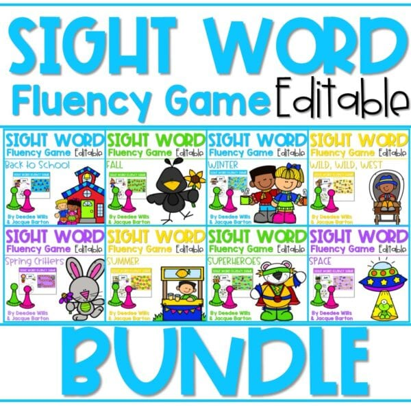 Sight Word Fluency Game (editable) | BUNDLE 1