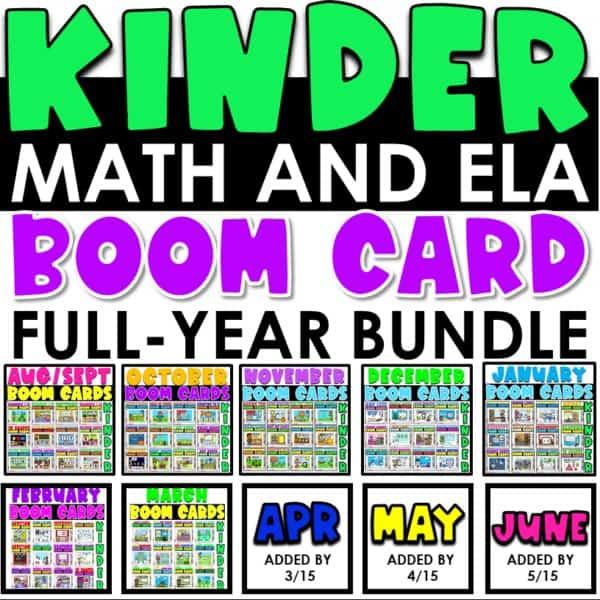 Boom Cards™ for Distance Learning | Kindergarten Growing Bundle 1