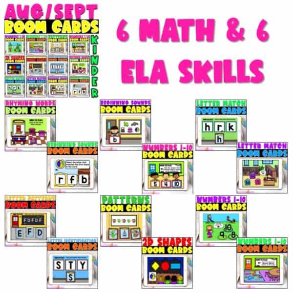 Boom Cards™ for Distance Learning | Kindergarten Growing Bundle 4