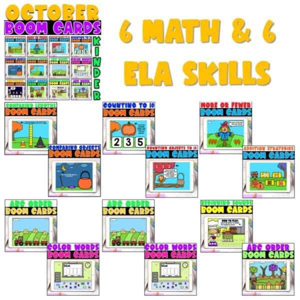 Boom Cards™ for Distance Learning | Kindergarten Growing Bundle 5